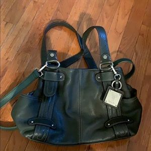 Tignanello Olive green leather bag